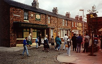 Rovers Return Inn - Visitors tour the Coronation Street set.