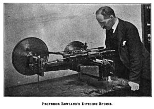 Henry Augustus Rowland - Rowland with his dividing machine