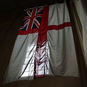 St Paul's Pro-Cathedral - The White Ensign in St Paul's pro-cathedral