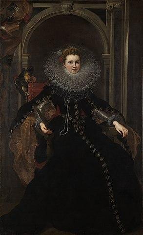 Портрет маркизы Вероники Спинола-Дориа. 1606—1607, масло, холст. 225 × 138 см. Карлсруэ, Государственная картинная галерея