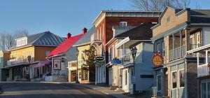 Rivière-du-Loup - Rue LaFontaine is an important commercial street in Rivière-du-Loup.