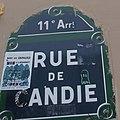 Rue de Candie sign, Paris 27 September 2013.jpg
