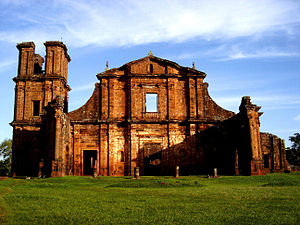 2004 World Monuments Watch - The ruins of São Miguel das Missões in the south of Brazil is one of the elements of the Jesuit Guaraní Missions serial site.