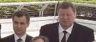 Vladimir Ustinov - Rashid Nurgaliyev and Vladimir Ustinov (11 May 2004, Washington, D.C.)