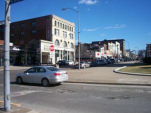 East Liberty (Pittsburgh) - East Liberty business district along Penn Avenue.