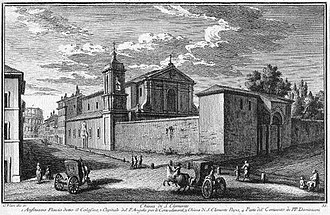 San Clemente al Laterano - Chiesa di S. Clemente etching by Giuseppe Vasi (1753)