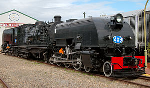 South Australian Railways 400 class - Preserved 409 at the National Railway Museum, Port Adelaide
