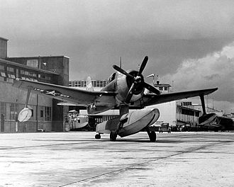 Curtiss SC Seahawk - A U.S. Navy SC-1 at Naval Air Station Jacksonville, Florida, in 1946
