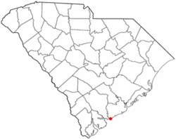 Location of Edisto Beach, South Carolina