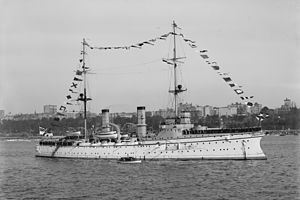 Protected cruiser - Image: SMS Hertha 1 1909