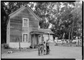 SOUTHEAST FRONT, WITH CHILDREN - Isaac Graham House, Cabrillo Highway, Pescadero, San Mateo County, CA HABS CAL,41-PESC,4-3.tif