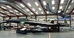 SR-71 Blackbird in a hangar at the Pima Air & Space Museum (5735939410).jpg