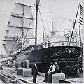 SS City of Peking at Pier 42, North River NY, 1874.jpg