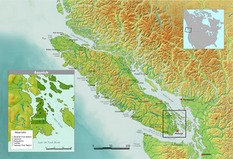 Saanich people - Map of the Saanich Reserves