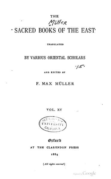 File:Sacred Books of the East - Volume 15.djvu