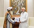 Sadhguru Jaggi Vasudev calling on the Prime Minister, Shri Narendra Modi, in New Delhi on October 03, 2017 (1).jpg
