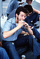 Sailor eating sandwich, U.S.S. Radford, circa 1980 · DN-ST-82-11535.jpg