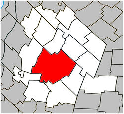 Location within Les Maskoutains RCM.