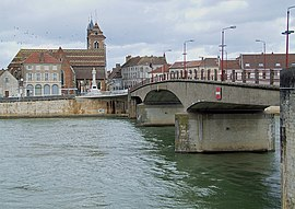 Bridge over the Saône River