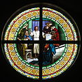 Saint Paul the Apostle Church (Westerville, Ohio) - stained glass, Jesus Christ among the doctors.jpg