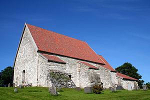 Old Sakshaug Church - Image: Sakshaug gamle kirke