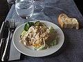 Salad as starter at restaurant Vltava.jpg