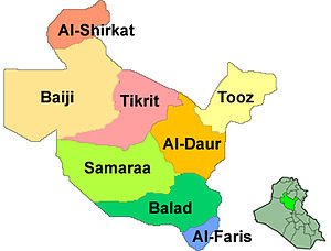 Saladin Governorate - Salah ad Din districts