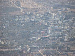 Salim, Nablus - Salim, from Mount Ebal