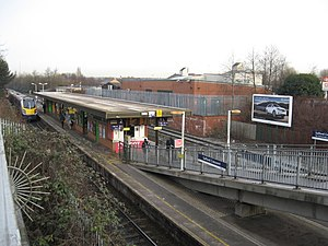 Salford Crescent railway station - The station in 2010, prior to the improvement works.