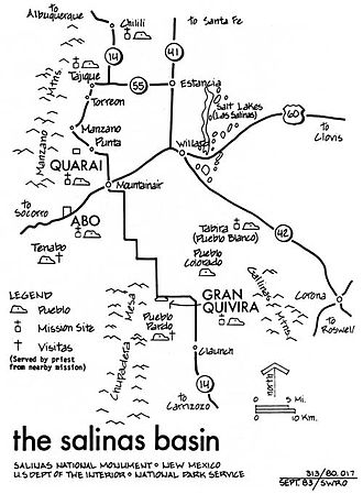 Ancestral Puebloan dwellings - Dwellings of the Pueblo peoples in New Mexico's Salinas Basin.