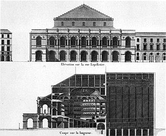 François Debret - Image: Salle Le Peletier elevation and long section CC Meade 1991 p 51