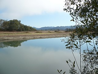 formerly navigable hanging channel of the Eel River in the U.S. state of California