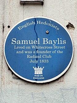 Samuel baylis (english hedonists plaque)