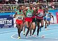 Samuel Tefera, Ayanleh Souleiman and Timothy Cheruiyot at the 2018 African Athletics Championships.jpg