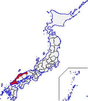San'in region - Map of the San'in Region