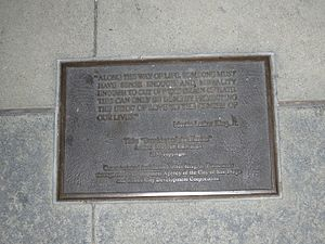 Breaking of the Chains - Plaque for the sculpture