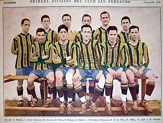 Club San Fernando - The San Fernando football team of 1926.