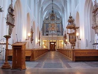 Sankt Petri Church, Malmö - Interior from the altar.