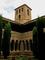 Santa Maria de l'Estany, claustre i campanar.jpg