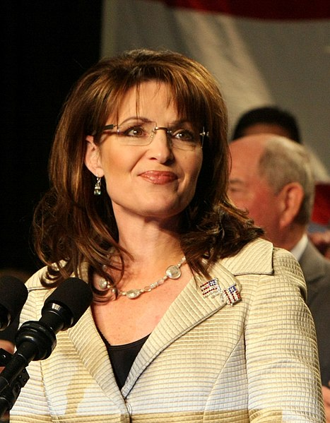 Sarah Palin in Savannah, Georgia, Dec 1, 2008 campaigning for the re-election of Saxy Chambliss.
