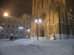 Sarajevo Cathedral in winter.jpg