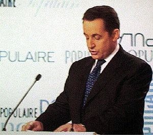 Union for a Popular Movement - Nicolas Sarkozy speaking at a UMP party congress in 2004