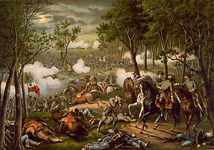 Bataille de Chancellorsville par Kurz and Allison.