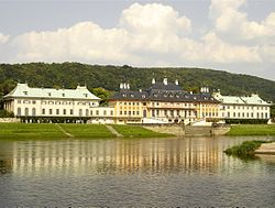 Pillnitz Castle and river Elbe