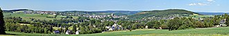 Schneeberg, Saxony - View of the town from the southwest