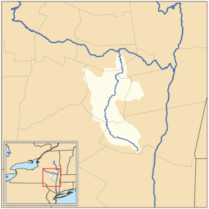 Schoharie Creek - Map of the Schoharie Creek drainage basin