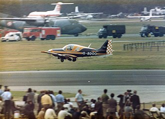 Scottish Aviation Bulldog - The Scottish Aviation BullFinch taking off at Farnborough
