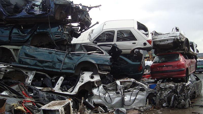 Scrap cars. Source: Wikimedia Commons