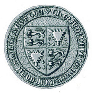 Gerhard VI, Count of Holstein-Rendsburg - Seal of Gerhard VI dating to about 1392