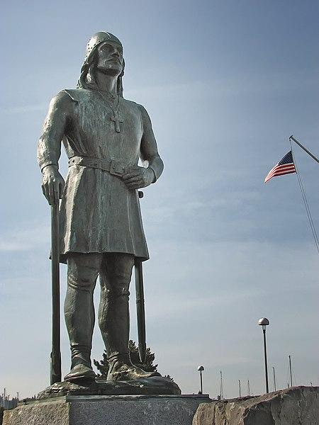 Ficheiro:Seattle's Leif Erikson statue.jpg